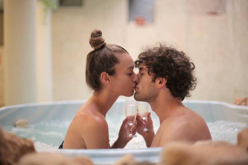 Baño con burbujas